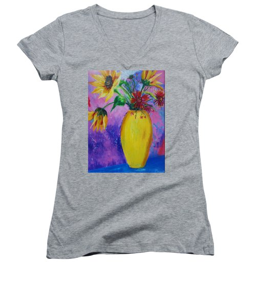 My Flowers Women's V-Neck