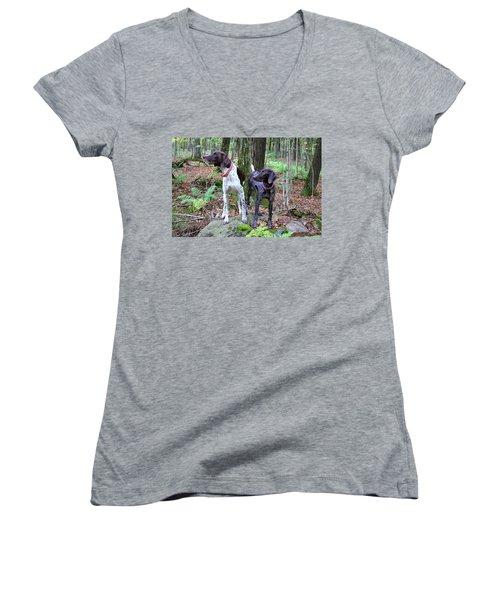 My Girls Women's V-Neck T-Shirt