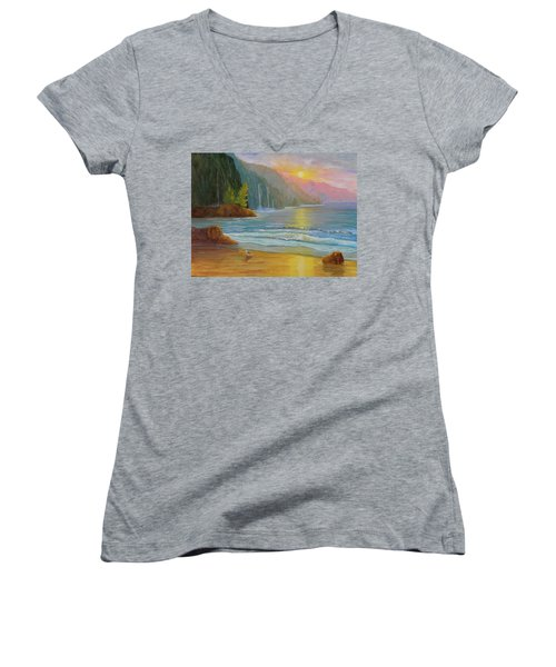 My Happy Place Women's V-Neck (Athletic Fit)