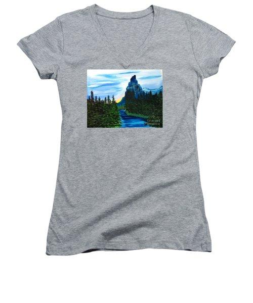 My Imagination Only Women's V-Neck T-Shirt (Junior Cut) by Rod Jellison