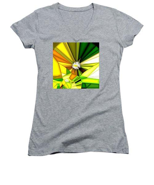 My Little Digital Daisy Women's V-Neck T-Shirt