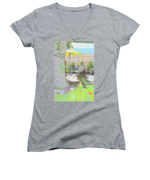 My Patio Women's V-Neck (Athletic Fit)