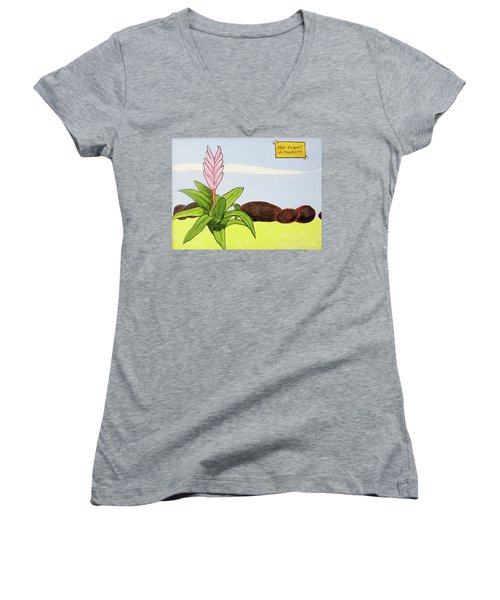 My Plant Is Thirsty Women's V-Neck T-Shirt