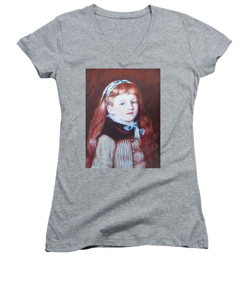 My Version Of A Renoir Women's V-Neck T-Shirt (Junior Cut)