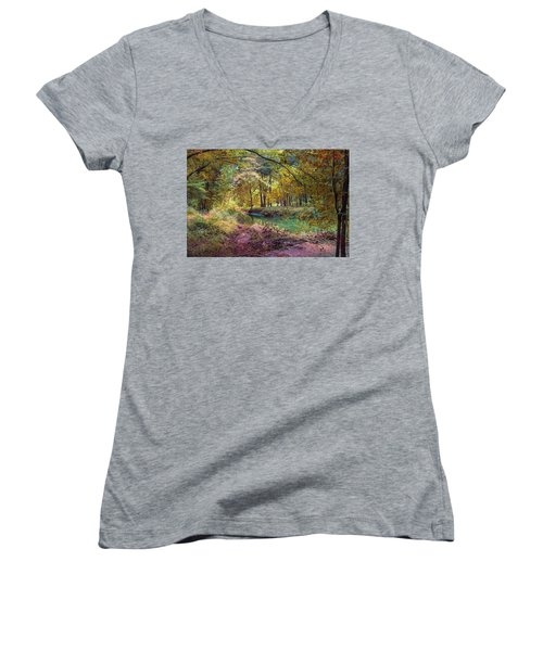 My World Of Color Women's V-Neck (Athletic Fit)