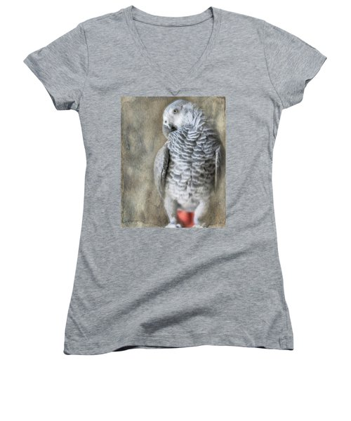 Mysterious Parrot Women's V-Neck