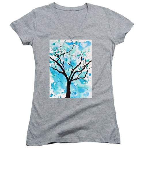 Mystic Tree Women's V-Neck (Athletic Fit)