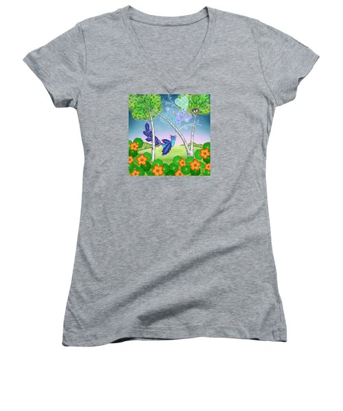 N Is For Nightingale Women's V-Neck