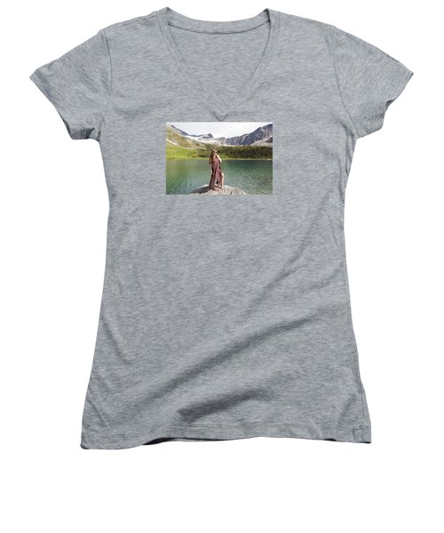 Naked In Alaska Women's V-Neck T-Shirt