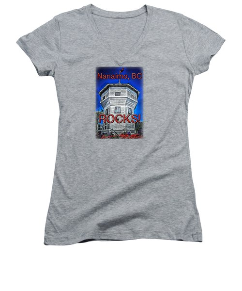 Nanaimo Bastion Women's V-Neck T-Shirt