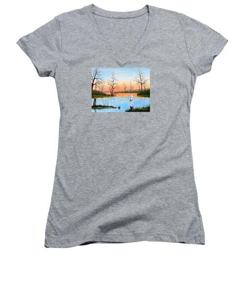 Nap Time Women's V-Neck T-Shirt