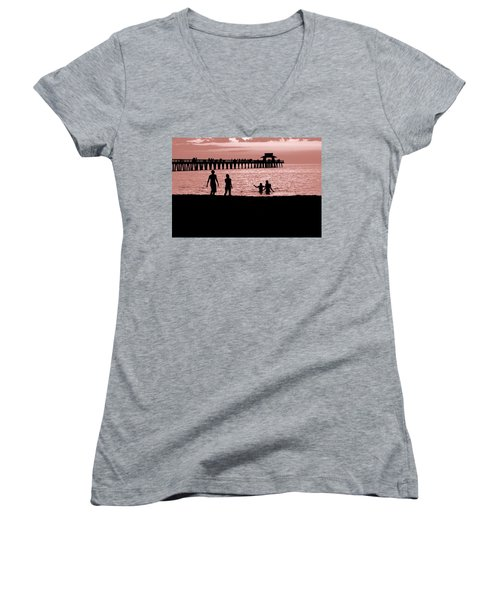 Naples Florida Sunset Women's V-Neck T-Shirt