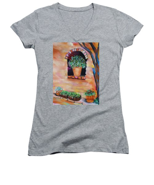 Nash's Courtyard Women's V-Neck