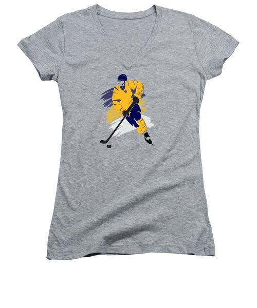 Nashville Predators Player Shirt Women's V-Neck T-Shirt (Junior Cut) by Joe Hamilton