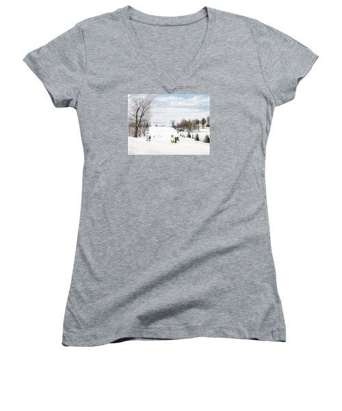 Nastar At Seven Springs Mountain Resort Women's V-Neck T-Shirt