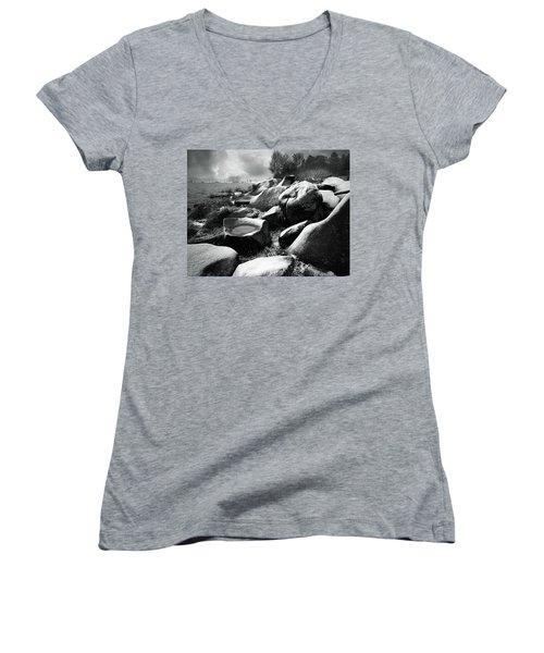 Nasty Weather Women's V-Neck T-Shirt (Junior Cut) by Vladimir Kholostykh