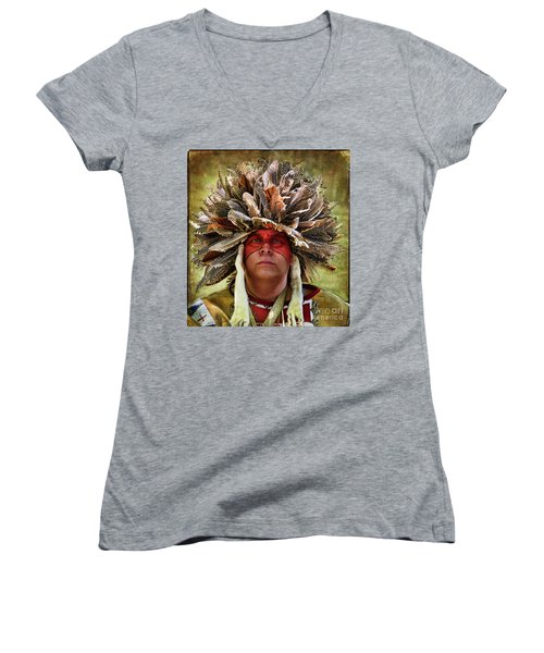 Native American Women's V-Neck (Athletic Fit)