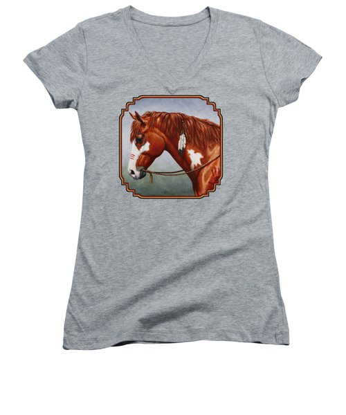 Native American War Horse Phone Case Women's V-Neck (Athletic Fit)