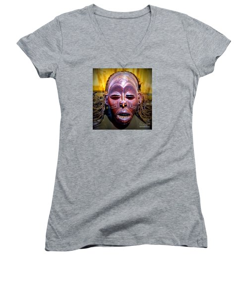Native Mask Women's V-Neck T-Shirt