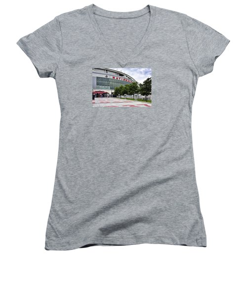 Nats Park - Front Entrance  Women's V-Neck (Athletic Fit)