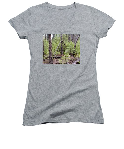 Natural Peace In The Woods Women's V-Neck