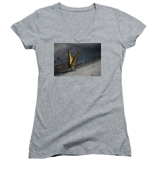 Nature And Man Reflects Women's V-Neck (Athletic Fit)