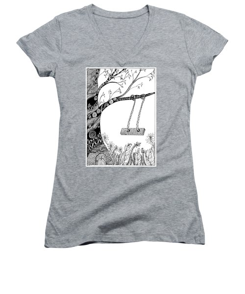 Nature Is Calling Come Out And Play Women's V-Neck