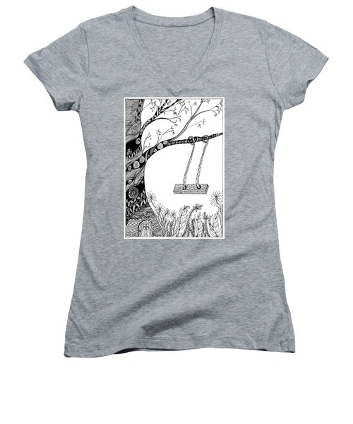 Nature Is Calling Come Out And Play Women's V-Neck (Athletic Fit)