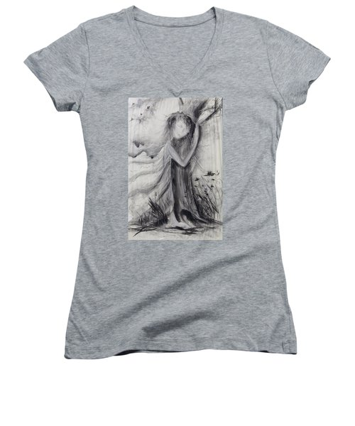 Nature Love  Women's V-Neck (Athletic Fit)