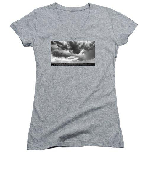 Nature Making Art Women's V-Neck T-Shirt (Junior Cut) by Monte Stevens