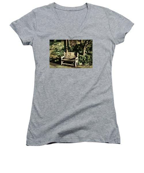 Nature - Peacefulness  Women's V-Neck T-Shirt (Junior Cut) by Judy Palkimas