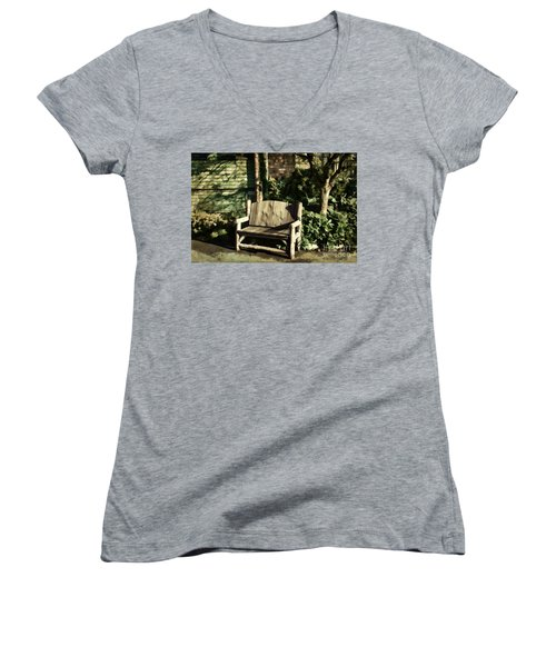 Nature - Peacefulness  Women's V-Neck T-Shirt