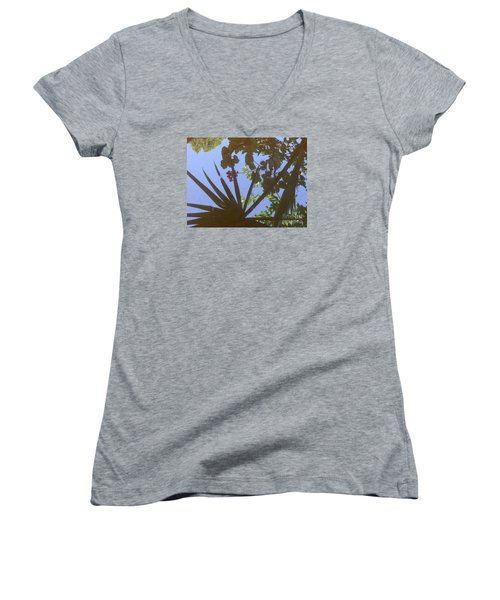 Women's V-Neck T-Shirt (Junior Cut) featuring the photograph Nature Reflected by Nora Boghossian