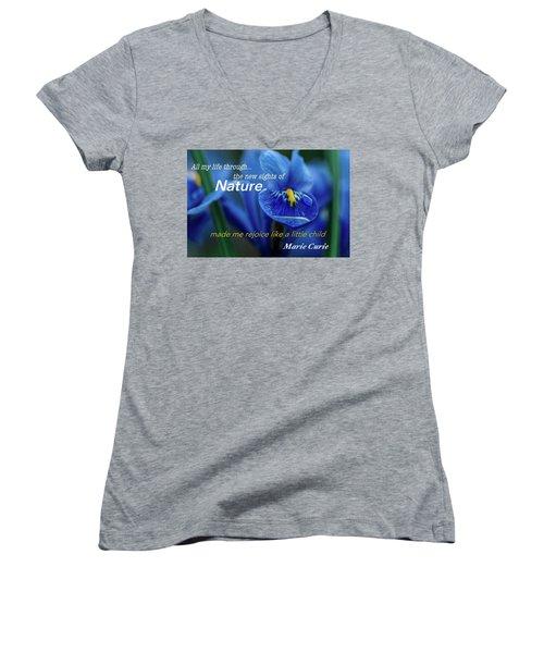 Nature208 Women's V-Neck T-Shirt (Junior Cut) by David Norman