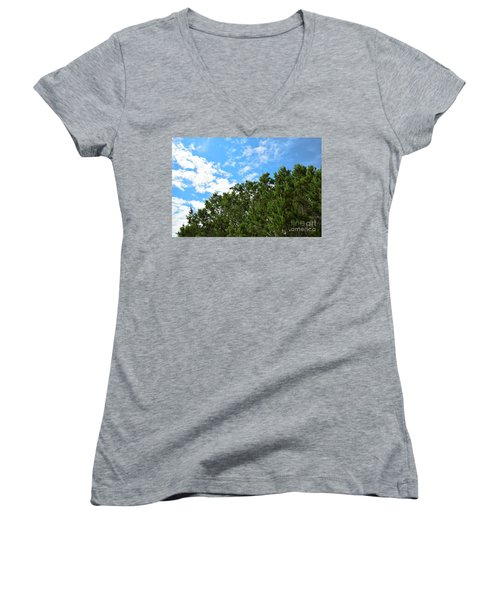 Women's V-Neck T-Shirt (Junior Cut) featuring the photograph Nature's Beauty - Central Texas by Ray Shrewsberry