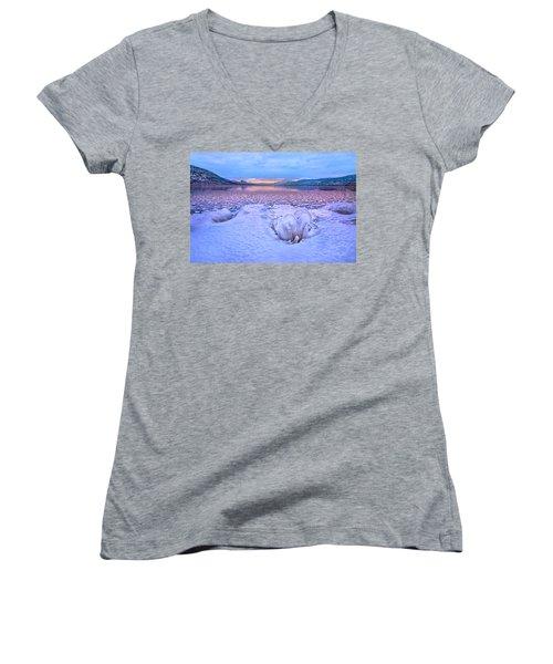 Women's V-Neck T-Shirt (Junior Cut) featuring the photograph Nature's Sculpture by John Poon