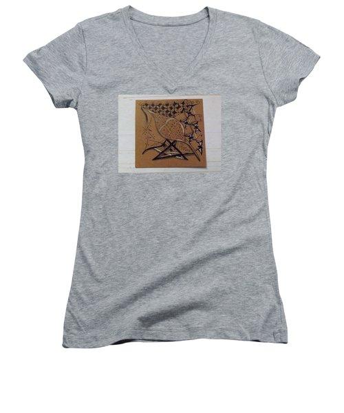 Nature's Work Women's V-Neck T-Shirt (Junior Cut) by Joyce Wasser