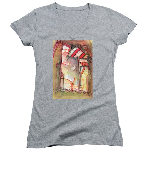 Nautical Mystery Women's V-Neck T-Shirt (Junior Cut) by Sandra Church
