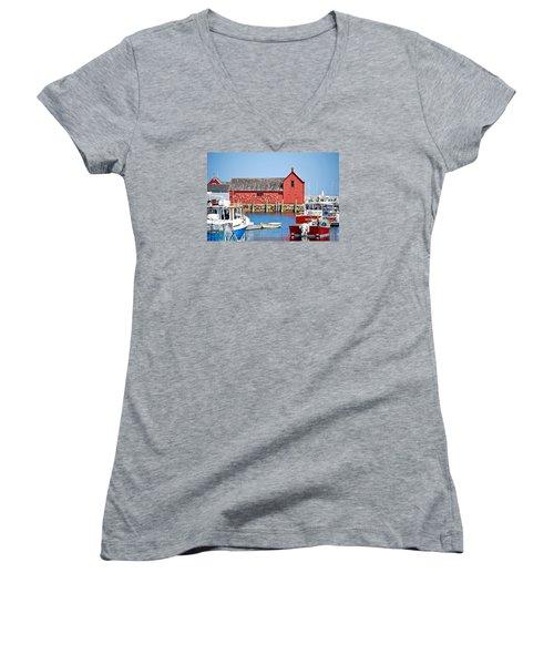 Nautical Rockport Days Women's V-Neck T-Shirt