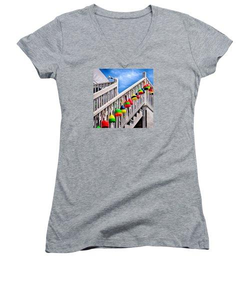 Nautical Stairway Women's V-Neck T-Shirt