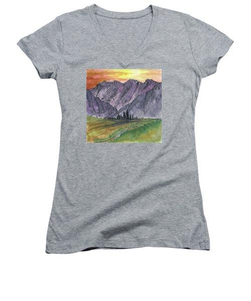Near Canyon Entrance Women's V-Neck T-Shirt