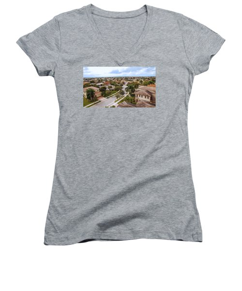 Neighborhood Aerial Women's V-Neck