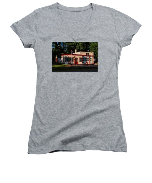 Nelsonville Phillips 66 Women's V-Neck T-Shirt