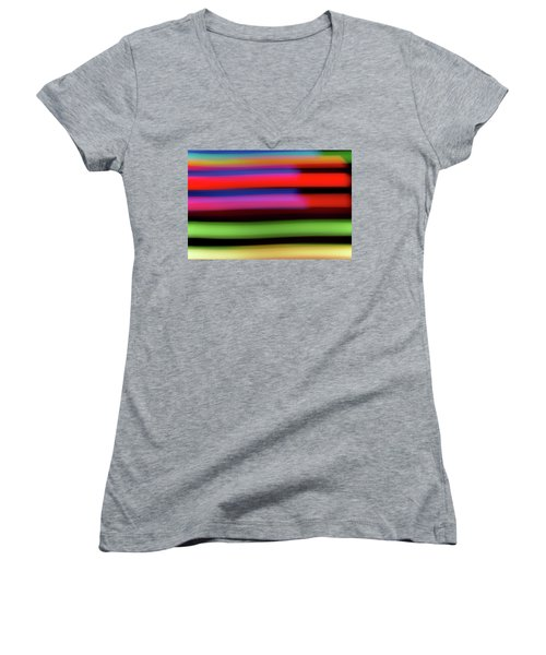 Neon Stripe Women's V-Neck