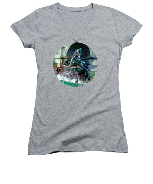 Neptune Nymph 2 Women's V-Neck T-Shirt