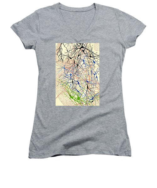 Nerve Cells Santiago Ramon Y Cajal Women's V-Neck (Athletic Fit)