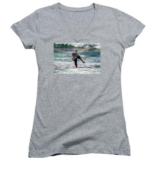 Net Fishing Women's V-Neck (Athletic Fit)