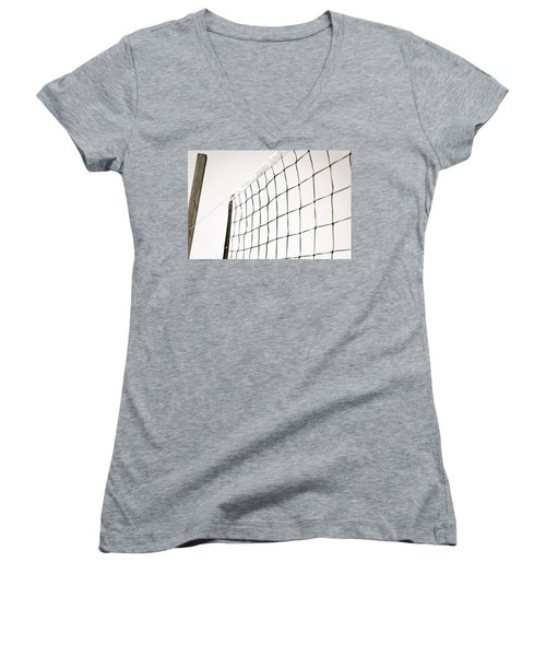Netted Women's V-Neck T-Shirt (Junior Cut) by Wade Brooks