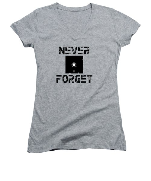 Never Forget Women's V-Neck T-Shirt (Junior Cut) by Mariel Constantino