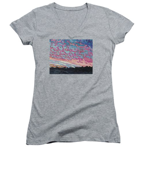 New Beginning Sunrise Women's V-Neck (Athletic Fit)